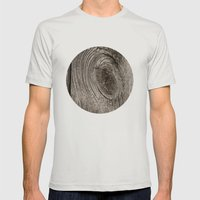 Wood Mens Fitted Tee Silver SMALL