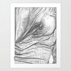 ASC 634 - Le drapé (Paranormal activity) Art Print