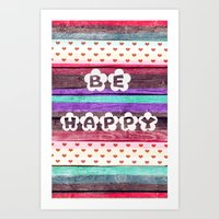 ▲BE HAPPY▲ Art Print