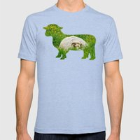 Sheep in the grass Mens Fitted Tee Tri-Blue SMALL