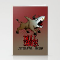 Bull Shark Version 2 Animal Series by RonkyTonk Stationery Cards