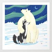 The Polar Bear And The H… Art Print