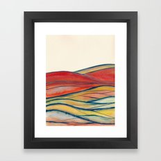 Watercolor abstract landscape 28 Framed Art Print
