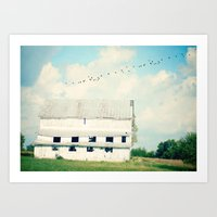 Mead Barn Art Print