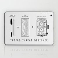 Triple Threat Designer Laptop & iPad Skin