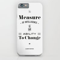 iPhone & iPod Case featuring Einstein Quote, words of wisdom by Spyros Athanassopoulos