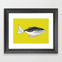 Whale, whale art, whale illustration, art, illustration, design, animal, whales, print, Framed Art Print