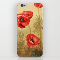 Red Poppies  iPhone & iPod Skin