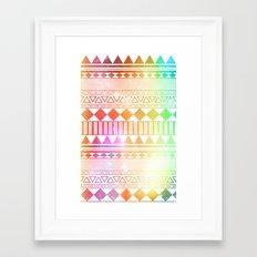 rainbow galaxy navajo tribal pattern Framed Art Print