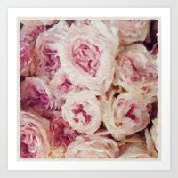 Painted Roses Art Print