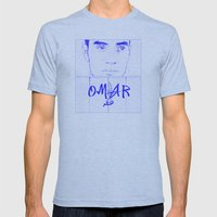 Omar (Blue Version) Mens Fitted Tee Athletic Blue SMALL