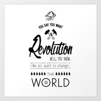 Lennon's Revolution Art Print