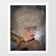 Afro Blonde Beautiful Ma… Art Print