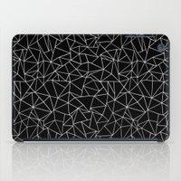 Shattered White On Black iPad Case