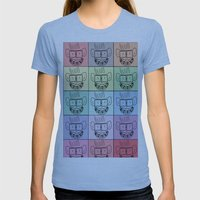 Pixel Geek Womens Fitted Tee Athletic Blue SMALL