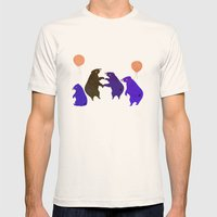 A Sleepy Bear Party Mens Fitted Tee Natural SMALL