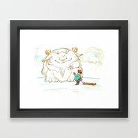A Friendly Snow Monster Framed Art Print