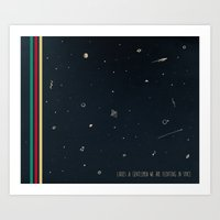 We are floating in space Art Print