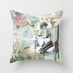 Flappers Vintage Reading… Throw Pillow