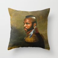 Mr. T - Replaceface Throw Pillow