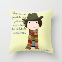 Doctor Who The Fourth Do… Throw Pillow