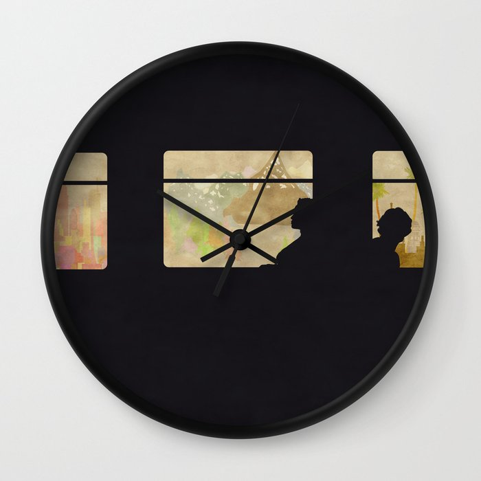 travelling without moving wall clock by eponymon society6