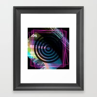 Abstract Record Label Framed Art Print