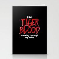 Tiger Blood on black Stationery Cards