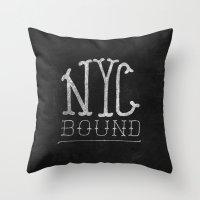 NYC Bound Throw Pillow