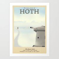 Retro Travel Poster Series - Star Wars - Hoth Art Print