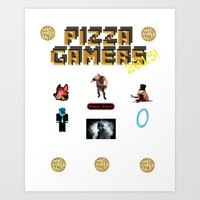 The Pizza Gamers Art Print
