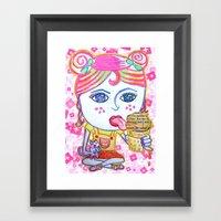 LeeLoo The Icecream Thie… Framed Art Print