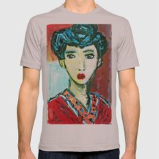 LADY MATISSE IN TEEN YEARS Mens Fitted Tee Cinder SMALL