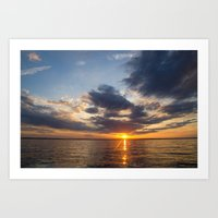 Lake Livingston Sunset Art Print