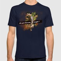 Are You Lonesome Tonight… Mens Fitted Tee Navy SMALL