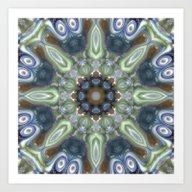 Colorful Glass Ornament Art Print
