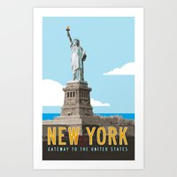 New York Travel Poster Art Print