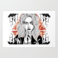 Russian Dark Girl Art Print