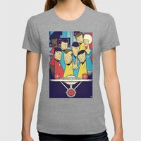 Star Trek Womens Fitted Tee Tri-Grey SMALL