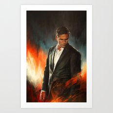 He Who Fights Monsters Art Print