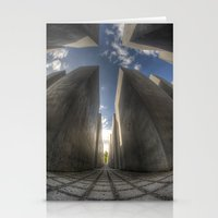 Jewish Memorial Wide Stationery Cards