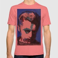 James Dean Mens Fitted Tee Pomegranate SMALL