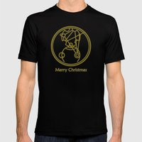 Merry Christmas from Gallifrey Mens Fitted Tee Black SMALL