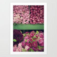 Flower Market Colorblock Art Print