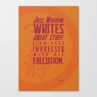 Nerdism 2 - Joss Whedon Canvas Print