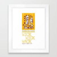 The Mighty Souls' Throwback: WICK WICK WACK - Figure UV Speech (1993) Framed Art Print