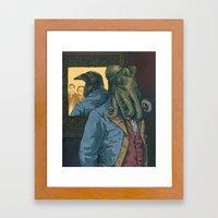 Lovecraft vs. Poe Framed Art Print