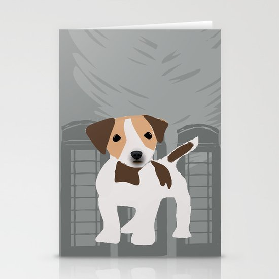 Jack Russel Dog in brown and white color Stationery Card