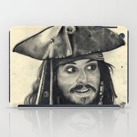 Captain Jack Sparrow ~ Johnny Depp Traditional Portrait Print iPad Case
