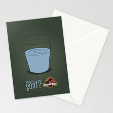 Jurassic Park  ¿Where's the goat? Stationery Cards